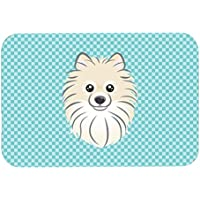 Caroline 's Treasures Checkerboard azul Pomerania alfombrilla de mouse/almohadilla caliente/salvamanteles (BB1145MP)