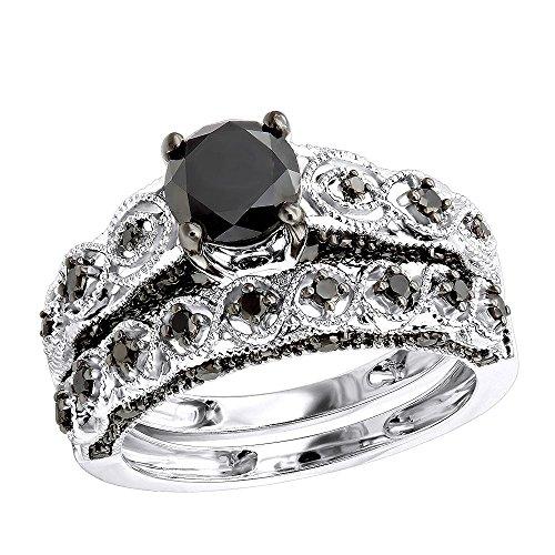 10k Gold Black Diamond Wedding