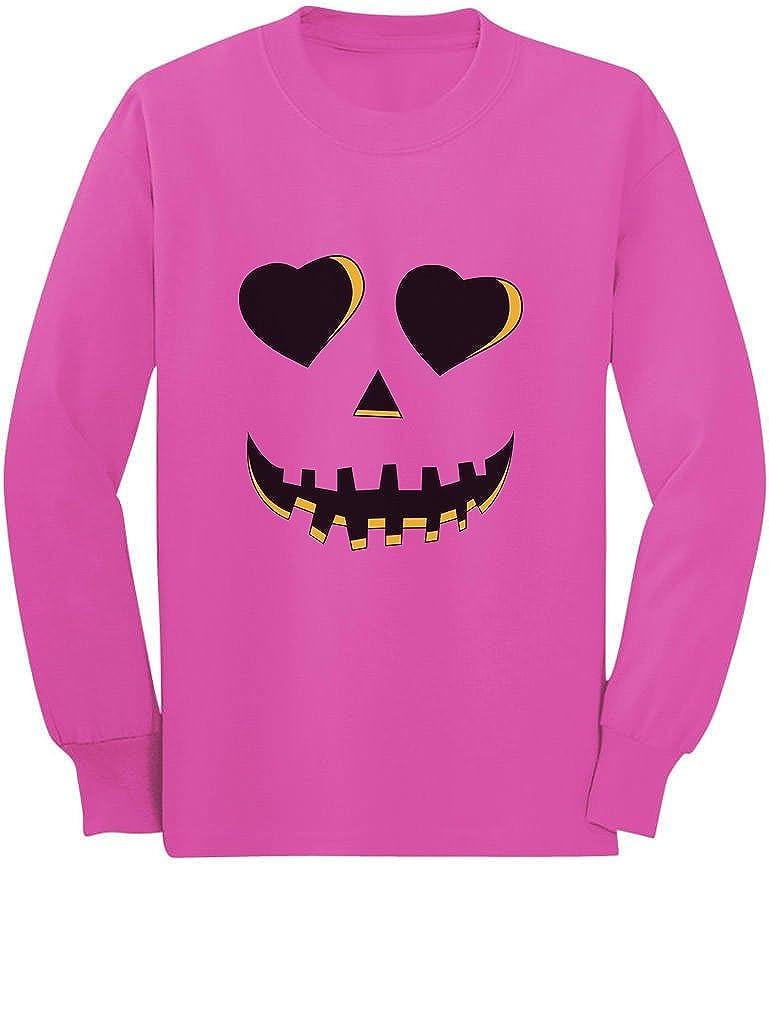Jack O Lantern Smiling Pumpkin Love Halloween Toddler//Kids Long Sleeve T-Shirt