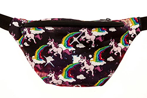KANDYPACK Barfing Unicorn Fanny Pack with Hidden Pocket Perfect for Raves and Festivals