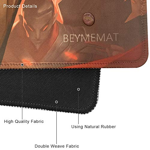 Beymemat Large Gaming Mouse Pad XXL Size (900x400mm) Extended Mouse Mat/Desk Pad with Non-Slip Rubber Base, Special-Textured Surface for Keyboard and Mouse (90x40 mengkuoman)