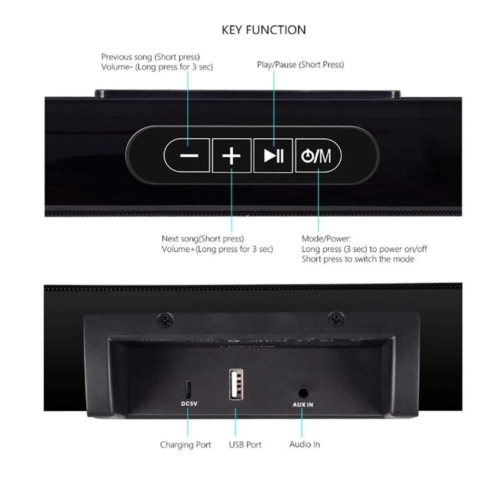 TV Sound Bar XGODY 20'' G-XS01 Wireless Wired Audio Surround Soundbar Bluetooth 5.0 Speaker with 2.0 Channel Sound System by XGODY (Image #5)