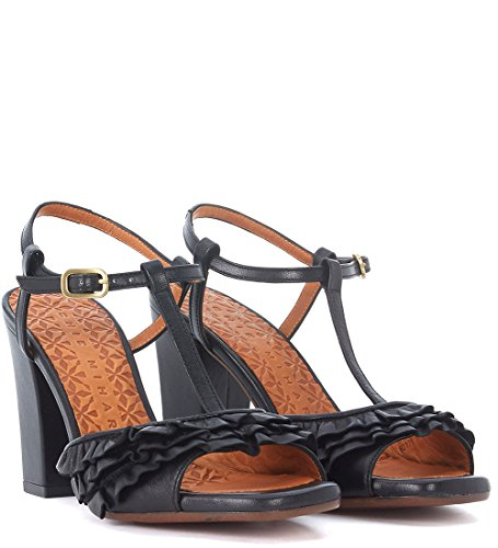 Chie Black Heeled Mihara Leather Women's Black Brunella Sandal 1Z17R