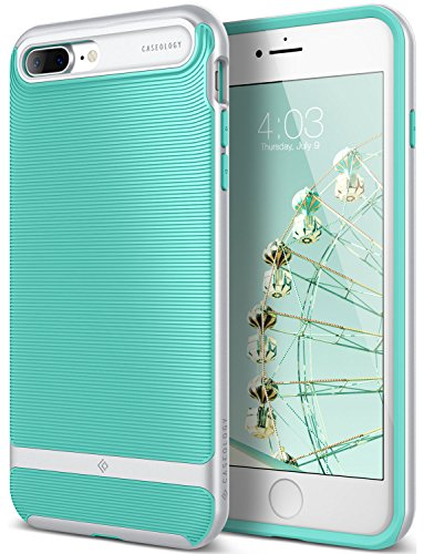 Caseology [Wavelength Series iPhone 8 Plus/iPhone 7 Plus Case - [Stylish & Protective] - Mint Green