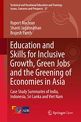 Education and Skills for Inclusive Growth, Green Jobs and the Greening of Economies in Asia : Case Study Summaries of India, Indonesia, Sri Lanka and Viet ... Training: Issues, Concerns and Prospects)