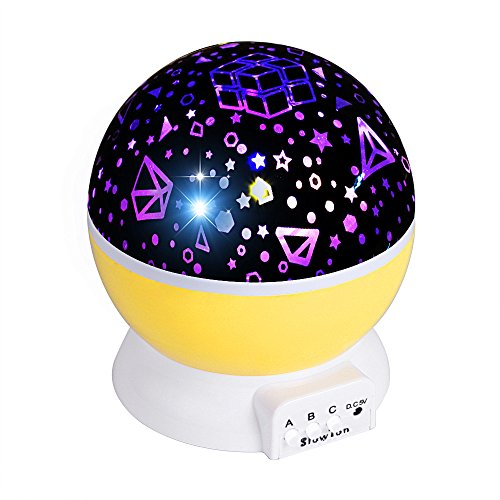 Slowton Star Night Light Projector for Kids, Starry Lighting Lamp Rotating Bedside Rest Light Baby Sleep Soothers...