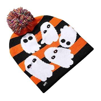 AYLWKS Sombreros Brillantes de Halloween para niños Gorros Adultos ...