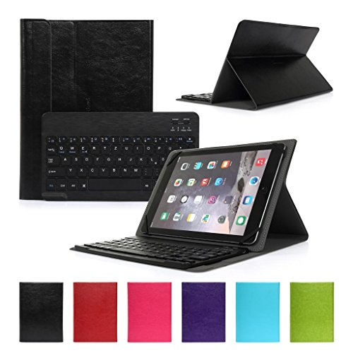 Bluetooth Tastatur CoastaCloud Ultra-Slim Hülle Keyboard Case Für alle Windows / Android / IOS und Mobil mit 9-10.6 Zoll (Geeignete Tablettengröße : Länge 24x26.3cm;Breite:18cm ) für 10