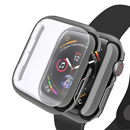 - SIRUIBO Compatible with Apple Watch 44mm Screen Protector, Hard PC iWatch 44mm Case Full Protector for Apple Watch Series 4, Black