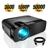 Mini Projector, ELEPHAS 3300 Lumens Portable Home Theater Video Projector Support 1080P HD