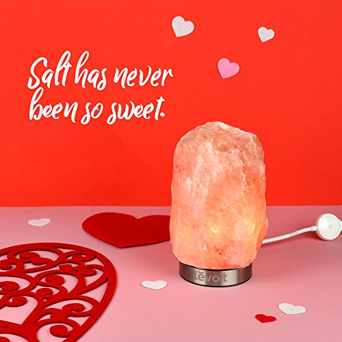 LEVOIT Kyra Himalayan Salt Lamp, Pink Crystal Hand Carved Hymalain Rock Salt Lamps with 18/8 Stainless Steel Base, Dimmable Touch Switch, Holiday Gift, (UL-Listed, 2 Extra Original Bulbs Included) by LEVOIT (Image #2)
