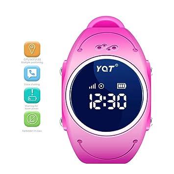 Lu Niños Reloj Inteligente teléfono, Estudiante GPS posicionamiento Reloj WiFi Impermeable Anti-descartar Tarjeta