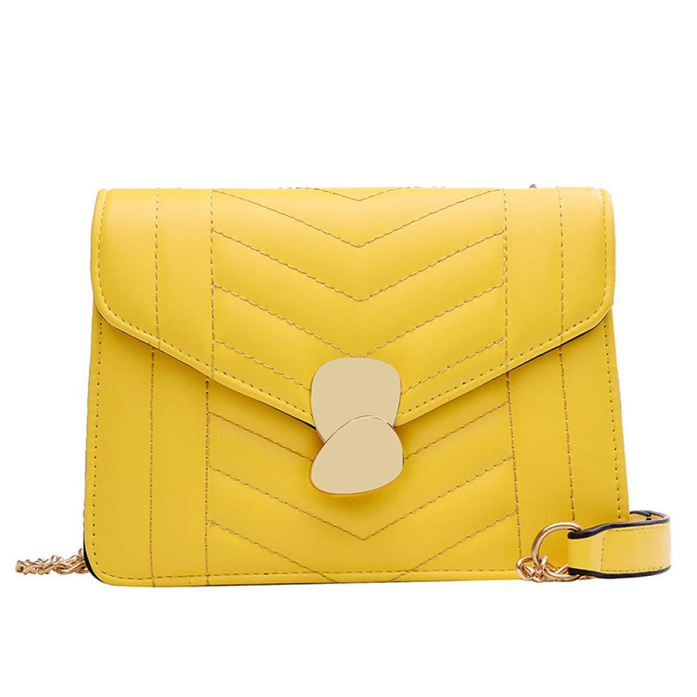 BAOBAOTIAN Bag Female New Korean Version of The Simple Ribbed Small Square Bag of Foreign Gas Chain Lock Single Shoulder Messenger Bag
