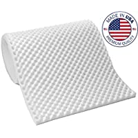 Vaunn Medical Egg Crate Convoluted Foam Mattress Pad - 3 Thick EggCrate Mattress Topper (Hospital Bed Twin Size) - Made in USA