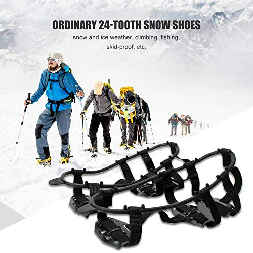 Professional 24 Teeth Ice Mud Snow Shoe Cleats Crampons Camping Anti Slip Shoes Cover, Snow Shoes Snowshoes - Snowshoes In Electronics, Snowshoes In Outdoor Sporting Accessories, Womens Snowshoes from Anubis coca