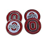 The Ohio State University Buckeyes Golf Ball Markers (4)