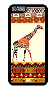 iZERCASE iPhone 6 PLUS Case Giraffe Art on Aztec Pattern RUBBER CASE - Fits iPhone 6 PLUS T-Mobile, Verizon, AT&T, Sprint and International by supermalls