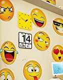 12 Large Emoji Wall Decal Faces Sticker #6052s 10in X 10in Each