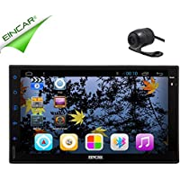 EinCar Android 5.1 Lollipop Quad Core Car Radio Double Din Stereo Head Unit Support 3D GPS Navigation Radio Bluetooth Steering Wheel Control USB SD AUX 3G WIFI DVR Cam-in OBD DAB+Backup camera