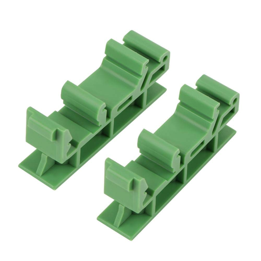 10 Sets 35mm PCB DIN C45 Rail Mounting Adapter Circuit Board Mounting Bracket Holder Carrier Clips,15mm DIN Rail,Used to Hold PCB and Electronic Switching Devices