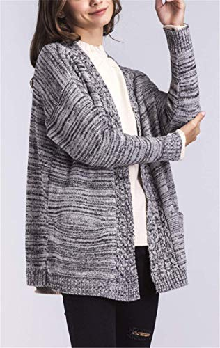 di di Alta Lunga Vintage Invernali qualità Calda A A A Giacca Grau Cardigan A Beverlly Maglia Maglia Eleganti A Donna Manica Fashion Maglia Pullover Autunno Cappotto xnpxRHWqw