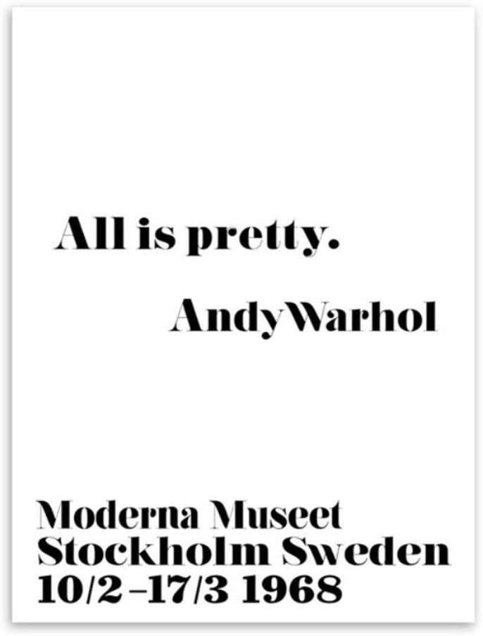 Generic Schwarz Wei/ß Minimalistisch Inspirierend Andy Warhol Zitate Poster Drucke Pop Nordic Wandkunst Bilder Leinwand Malerei Wohnkultur-50x70cmx2pcs-No Frame
