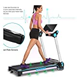 Cogry Electrical Motorized Treadmill APP Control Touch Screen Home Gym Running Machine Black(US Stock)