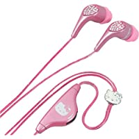 Hello Kitty KT2081A Jeweled Earbud Headphones, In-Line Volume Control