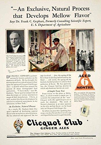 1929 Ad Clicquot Club Ginger Ales Eskimos Soda Frank C. Gephart Beverage YGH2 - Original Print Ad from PeriodPaper LLC-Collectible Original Print Archive