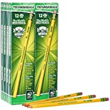 Ticonderoga Pencils, Wood-Cased, Graphite #2 HB Soft, Yellow, 96-Pack (13872)