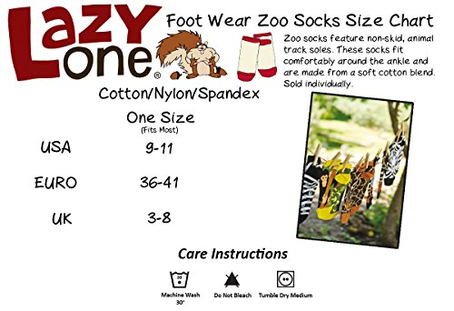 LazyOne Unisexe Multi Animal Adulte Zoo Chaussettes 37-41