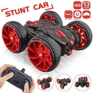 MaxTronic Toy Car Christmas Birthday Gift for 4-12 Years Old Kids – 360° Flip Remote Control Stunt RC Car, 4WD 2.4Ghz…