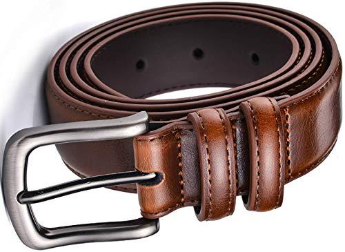 Men's Belt, Men Genuine Leather Dress Belt with 1 1/4