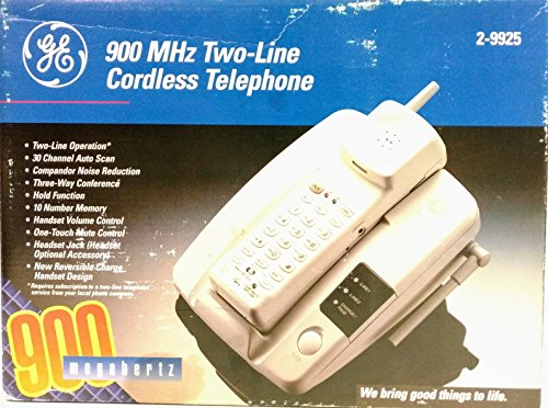 GE Two Line cordless Telephone 900 MHz New In Box Model 2-9925