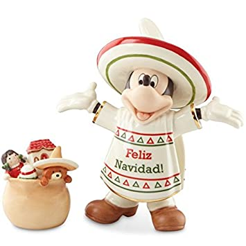 Disney Lenox Feliz Navidad Mickey Mouse Figurine 839656