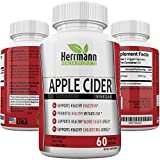 Powerful Apple Cider Vinegar Capsules | Max Weight Loss Detox Potency – 1300mg | Naturally Aids Metabolism, Blood Sugar, Digestion, Bloating, Gas, Bacteria Rebalance & Gut Health | Non-GMO (60)