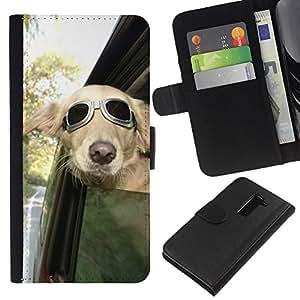 iBinBang / Flip Funda de Cuero Case Cover - Pilot Sunglasses Car Window Wind - LG G2 D800 D802 D802TA D803 VS980 LS980