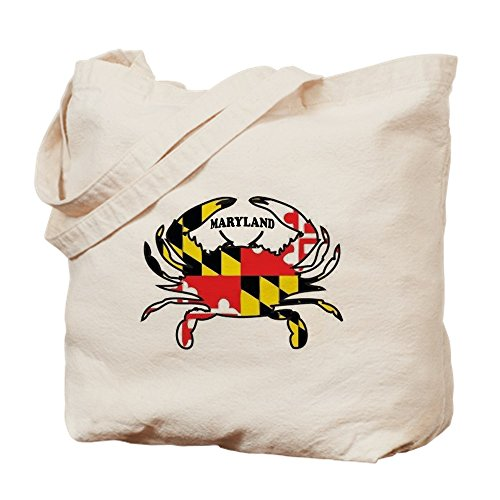 CafePress - MARYLAND CRAB - Natural Canvas Tote Bag, Cloth Shopping - Queenstown Shopping