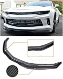 Extreme Online Store Replacement for 2016-2018 Chevrolet Camaro RS   EOS T6 Style Carbon Fiber Add On Front Bumper Lower Lip Splitter EOS-FLIP-167-BKCF