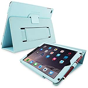 Snugg iPad 3 & 4 Case - Smart Cover with Flip Stand & Lifetime Guarantee (Baby Blue Leather) for Apple iPad 3 and 4