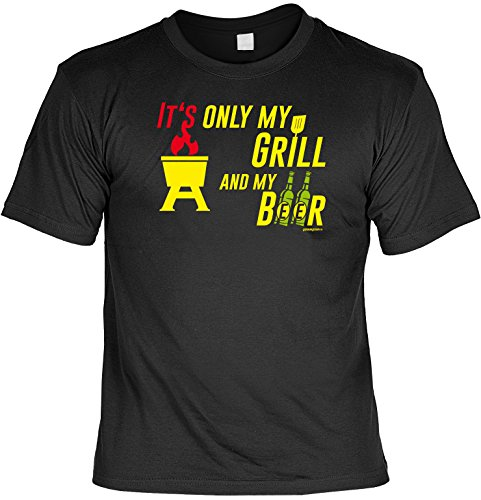 T-Shirt - I'ts my Grill and my Beer - lustiges Sprüche Shirt als Geschenk für Grill Fans mit Humor