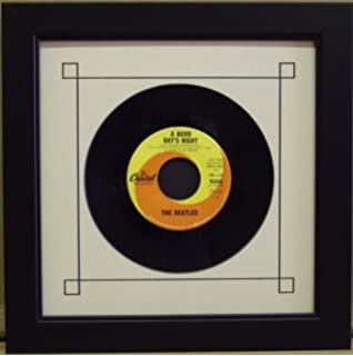 45 single 6 78 inch vinyl record frame featuring white mat design