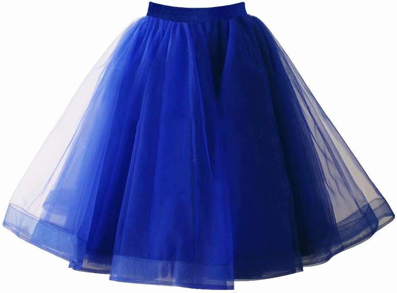 MisShow Rockabilly 50er Lang Petticoat Unterrock Rock T/üT/ü T/üllrock Retro