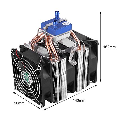DC 12V Thermoelectric Cooler Peltier System Semiconductor Refrigeration Water Chiller Cooling Device for Fish Tank(120W (for 30L tank)) by Hilitand (Image #1)
