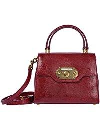 Dolce&Gabbana women's leather handbag shopping bag purse welcome red