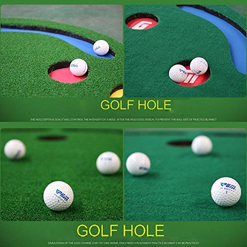 Golf Putting Green By New Brand PGM,3.28FTX9.84FT,Premium EVA Backing Allows Roll Up, No Creases, More Holes by PGM (Image #2)