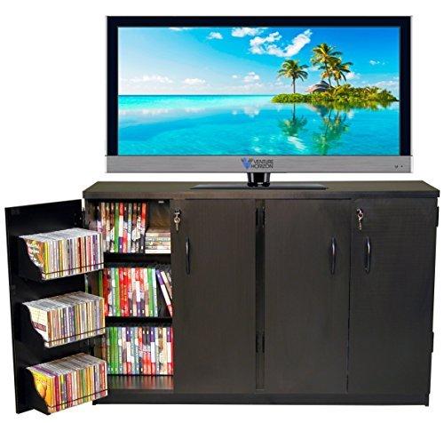 Venture Horizon Double Multimedia TV Cabinet- Black by Venture Horizon
