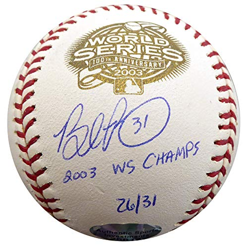 Brad Penny Signed Auto 2003 World Series Baseball Florida Marlins 2003 WS Champs #26/31 - Beckett Authentic
