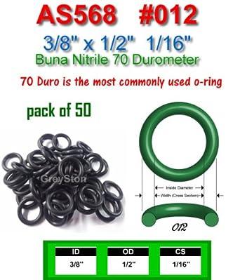 Oil-Resistant Buna N O-Rings -321 25 EA per Pack 1 3//16 Diameter