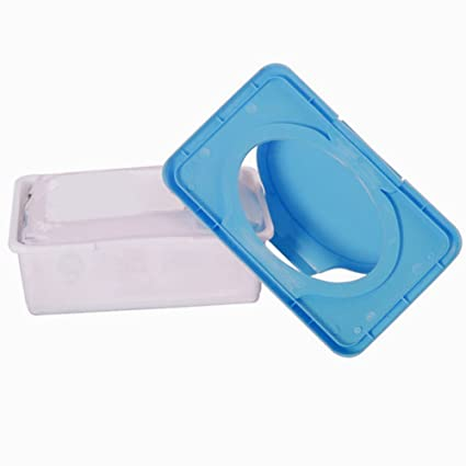 Bebé impermeable, fácil de soporte dispensador toallitas de plástico caja de pañuelos azul azul